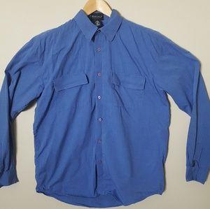 Buffalo David Bitton blue button down shirt Sz L